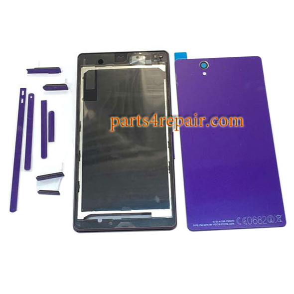 Generic Full Housing Cover for Sony Xperia Z L36H -Purple