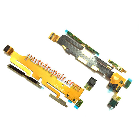 Side Key Flex Cable for Sony Xperia Z1S L39T from www.parts4repair.com