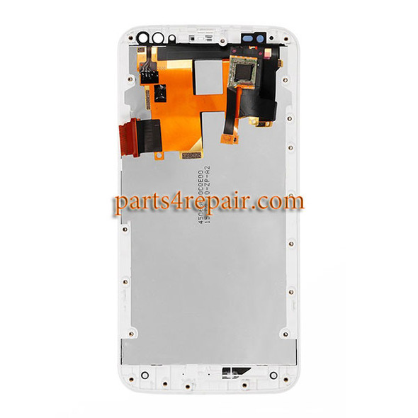 Complete Screen Assembly with Bezel White for Motorola X Pure