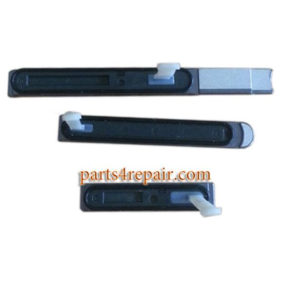 Micro SD Cover & USB Cover & SIM Cover for Sony Xperia Z3V D6708