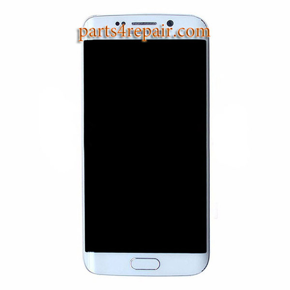 LCD Screen and Touch Screen Assembly with Frame for Samsung Galaxy S6 Edge +