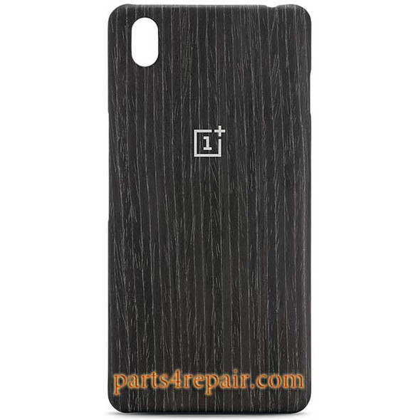 Black Apricot Wood Back Cover For OnePlus X