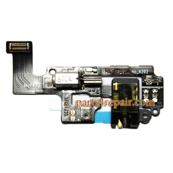 Earphone Jack Flex Cable with Vibrator for Lenovo Zuk Z2 from www.parts4repair.com