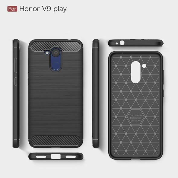 Carbon Fiber TPU Protector Case for Huawei Honor V9 Play
