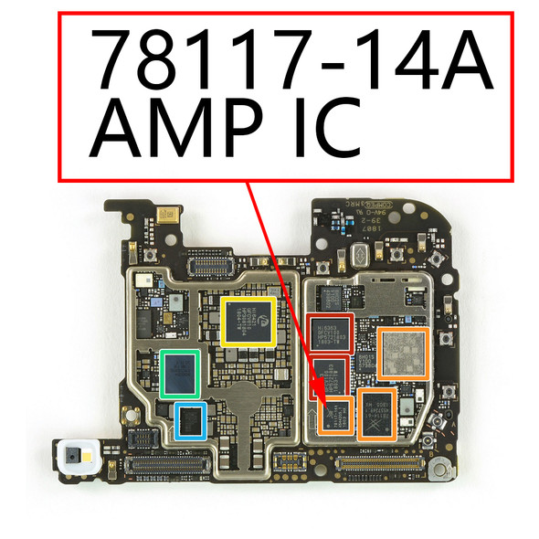 Huawei P20 Pro AMP IC 78117-14A from www.parts4repair.com