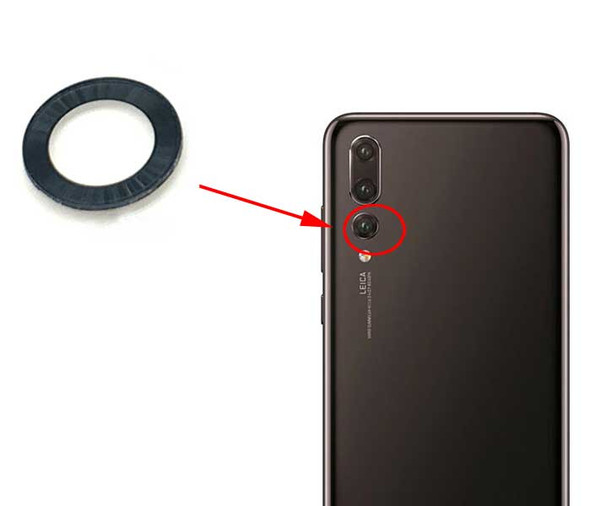 Huawei P20 Pro Camera Glass Lens with Adhesive from www.parts4repair.com