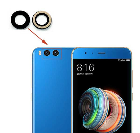 Xiaomi Mi Note 3 Camera Glass Lens with Adhesive from www.parts4repair.com