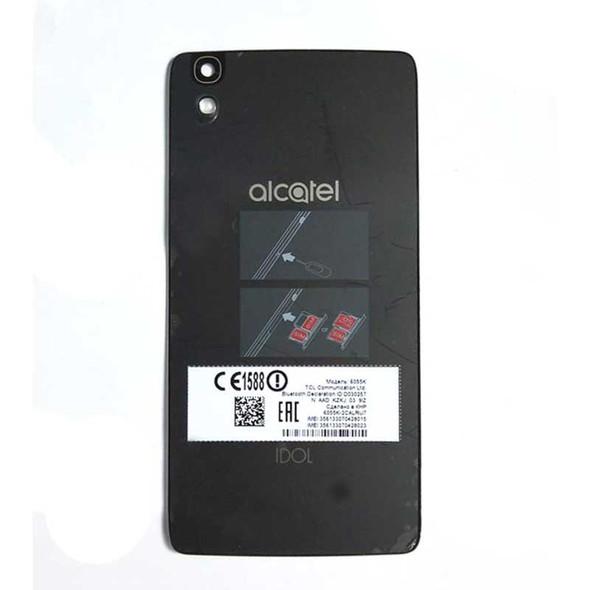 Back Glass Cover for Alcatel Idol 4 OT6055K -Black