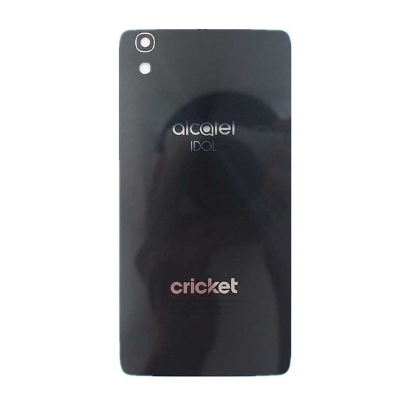 Back Glass Cover for Alcatel Idol 4 OT6055U -Black