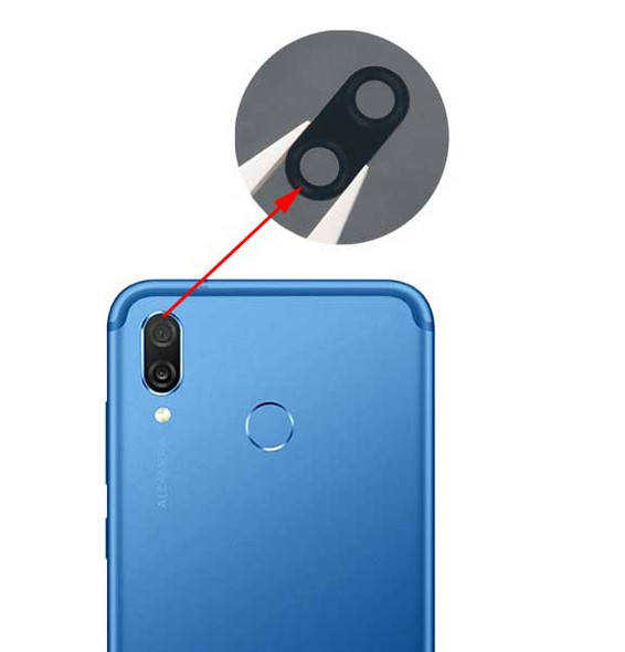 Huawei Honor Play Camera Glass Lens with Adhesive