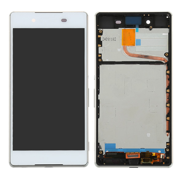 Sony Xperia Z4 Dual SIM Screen Assembly with Frame White   Parts4Repair.com
