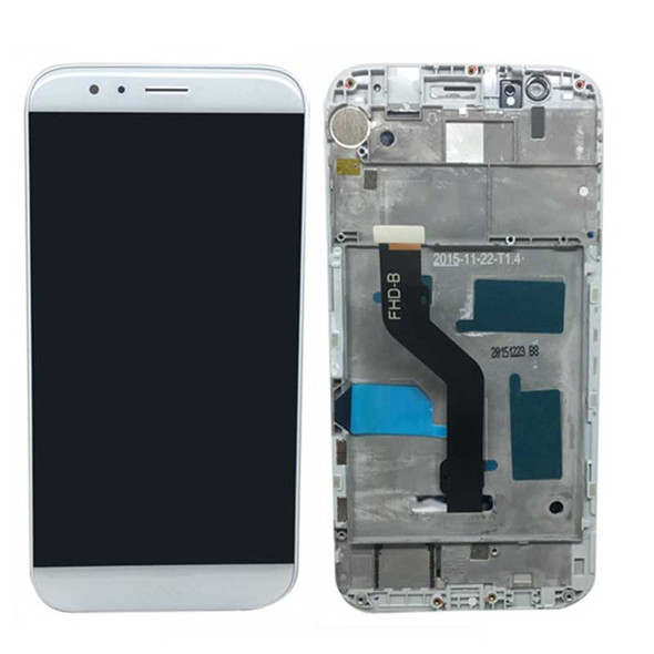 Complete Screen Assembly with Frame for Huawei G8 White | Parts4Repair.com