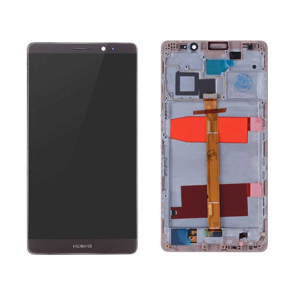 Complete Screen Assembly with Frame for Huawei Mate 8 Mocha Brown | Parts4Repair.com