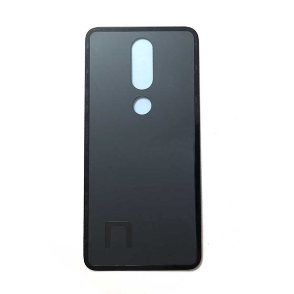 Nokia 5.1 Plus X5 Back Glass with Adhesive Black | Parts4Repair.com