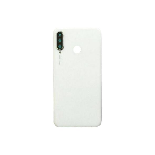 Huawei P30 Lite Nova 4e Back Glass with Camera Lens White | Parts4Repair.com