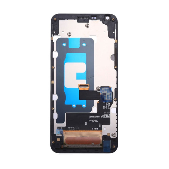 LCD Screen Digitizer Assembly with Frame for LG Q6 M700 Black | Parts4repair.com