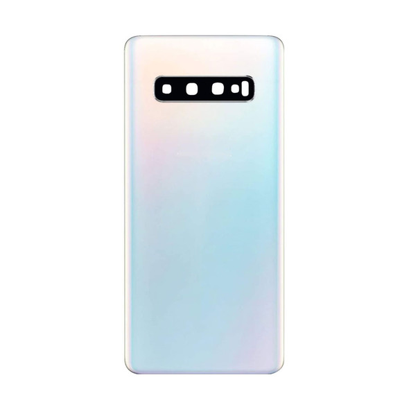 Samsung Galaxy S10 Back Glass with Adhesive White | Parts4Repair.com