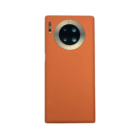 Huawei Mate 30 Pro Back Housing Cover Leather Orange | Parts4Repair.com