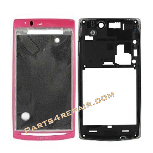 Full Housing cover for Sony Ericsson Xperia Arc S LT18I / LT15I  -Sakura Pink from www.parts4repair.com