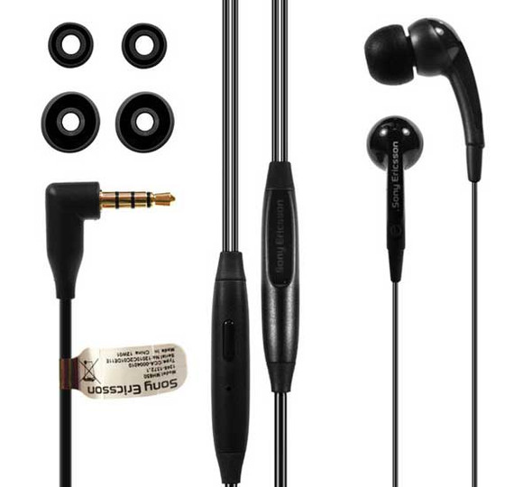 Headset Earphone Replacement for Sony Ericsson Xperia Arc S -Black