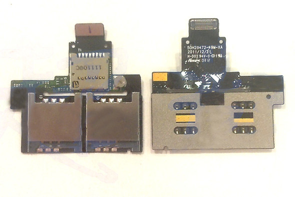 HTC Desire VC T328D SIM Card & Memory Card Holder Flex Cable from www.parts4repair.com
