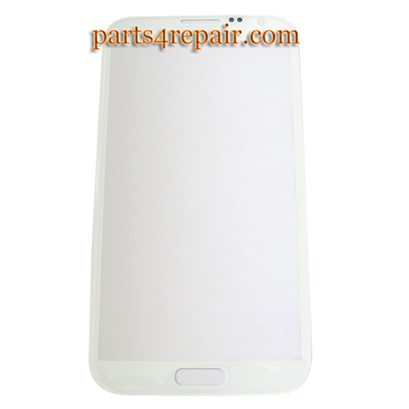 Samsung Galaxy S Note II N7100 Front Touch Lens Glass Screen -White from www.parts4repair.com