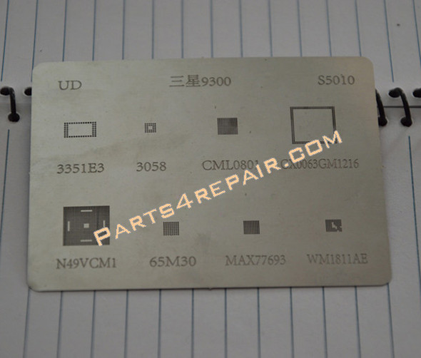 Samsung I9300 Galaxy S III Reballing Network for Character Set from www.parts4repair.com