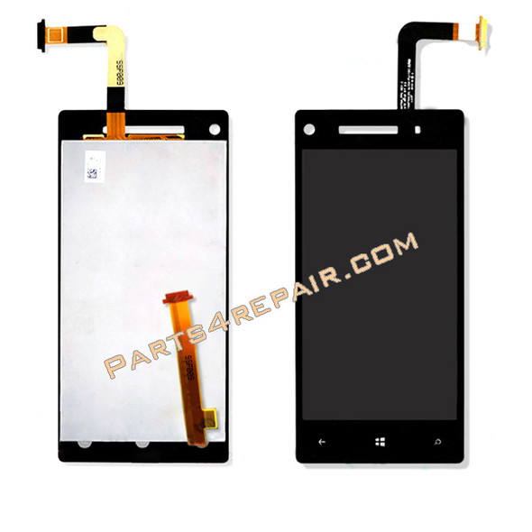 HTC Windows Phone 8X Complete Screen Assembly from www.parts4repair.com