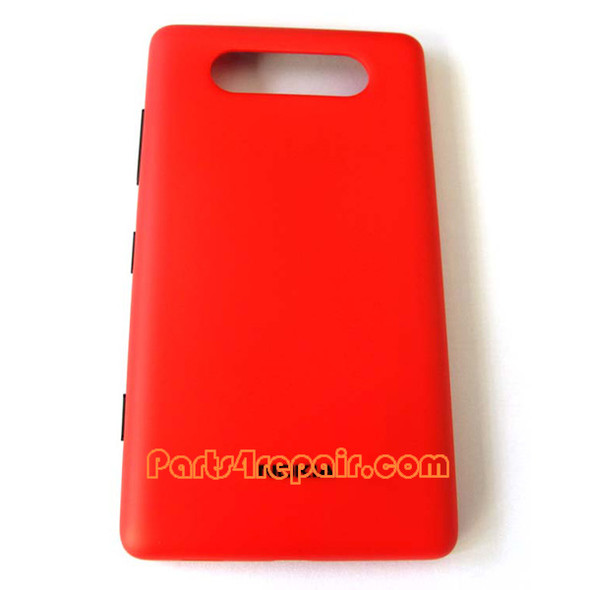 Back Cover for Nokia Lumia 820 -Red from www.parts4repair.com