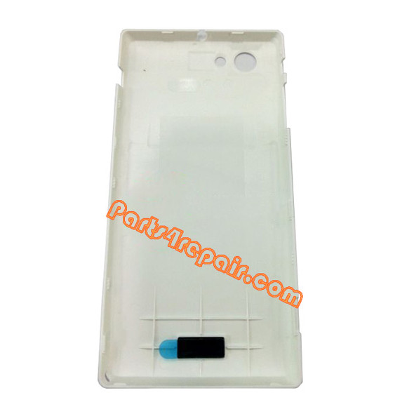 Back Cover for Sony Xperia J ST26I -White from www.parts4repair.com