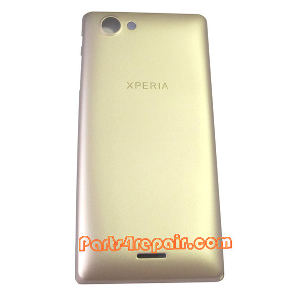 Back Cover for Sony Xperia J ST26I -Gold from www.parts4repair.com