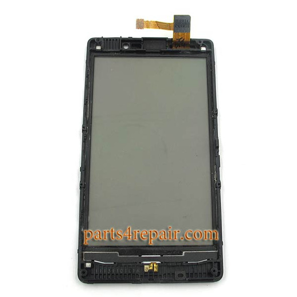 Touch Screen with Bezel for Nokia Lumia 820 (at&t)