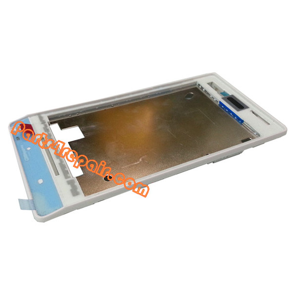 Front Cover for Sony Xperia miro ST23I -White from www.parts4repair.com