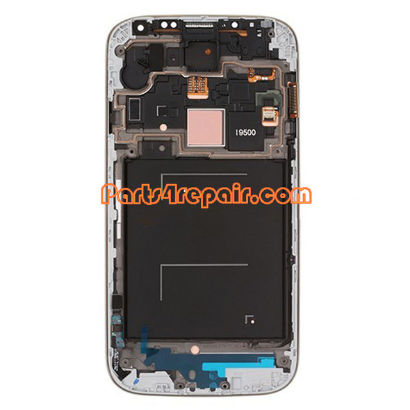 Complete Screen Assembly with Bezel for Samsung I9500 Galaxy S4 -Blue