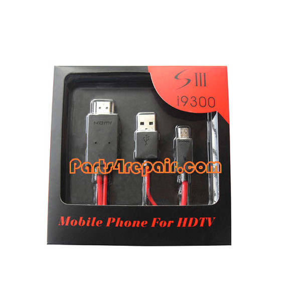 2M MHL Micro USB to HDMI HDTV Adapter for Samsung I9300/I9500 -Red