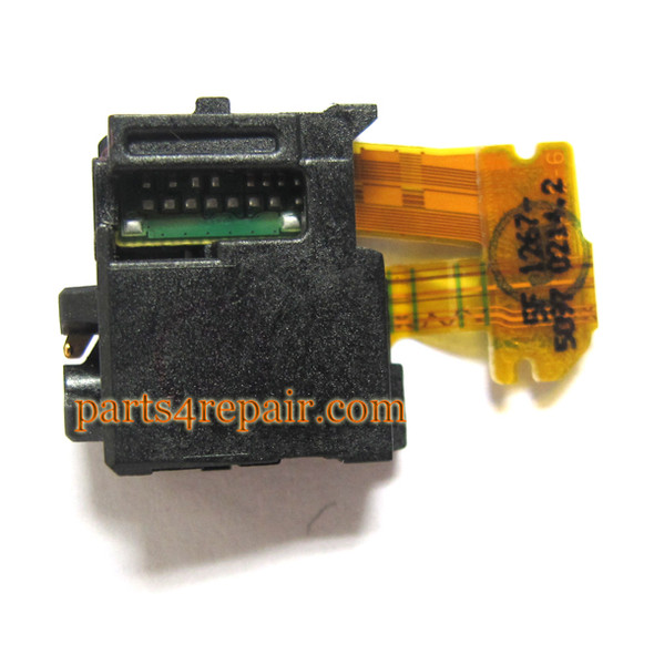 Earphone Jack Flex Cable for Sony Xperia Z L36H from www.parts4repair.com