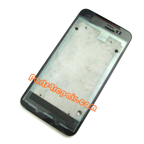 Front Housing Bezel for HTC Butterfly -Black from www.parts4repair.com