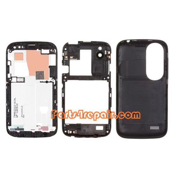 We can offer Full Housing Cover for HTC Desire V T328W -Black