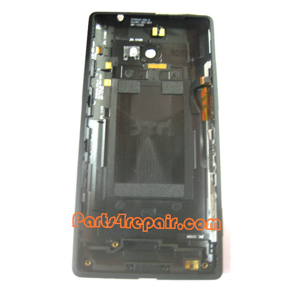 Back Cover for HTC 8X (Verizon Version)-Black