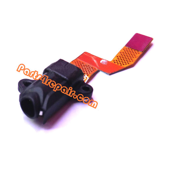 Earphone Jack Flex Cable for BlackBerry Q10 from www.parts4repair.com