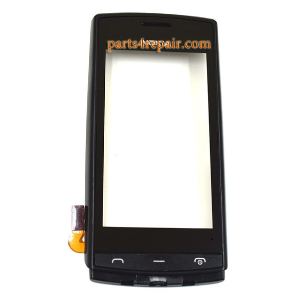 Touch Screen Digitizer with Bezel for Nokia 500