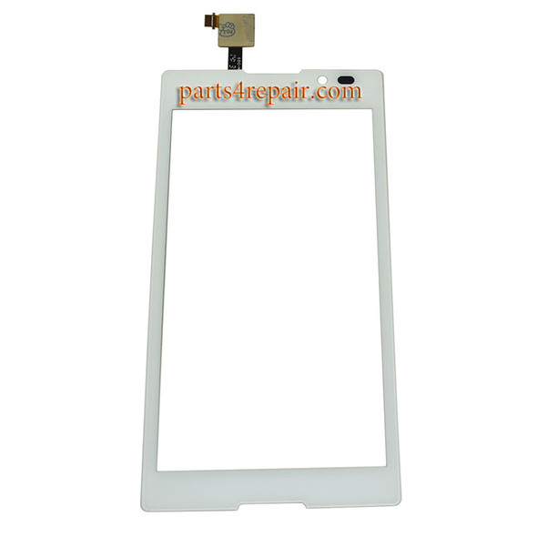 Touch Screen Digitizer for Sony Xperia C S39H -White from www.parts4repair.com