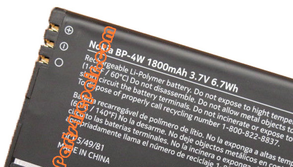 BP-4W 1800mAh Battery for Nokia Lumia 810 822