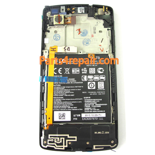 We can offer Complete Screen Assembly with Battery & Bezel for LG Nexus 5 D820