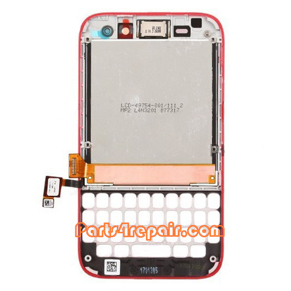 We can offer Complete Screen Assembly with Frame for BlackBerry Q5 -Red