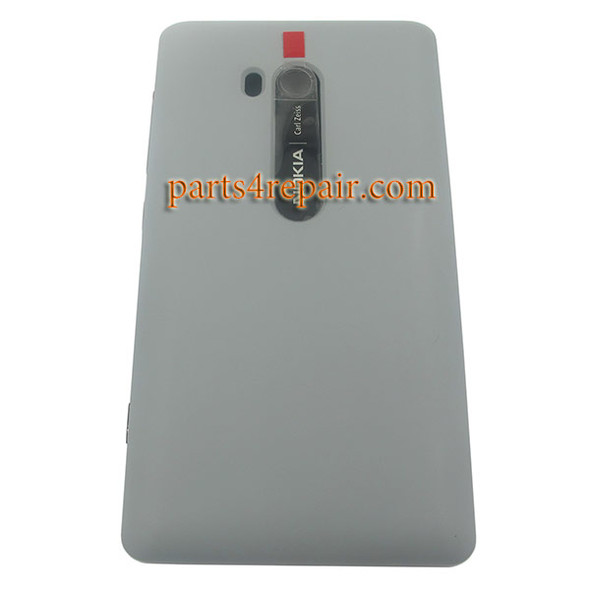 Back Cover with Wireless Charging Coil for Nokia Lumia 810 (T-Mobile) -Gray