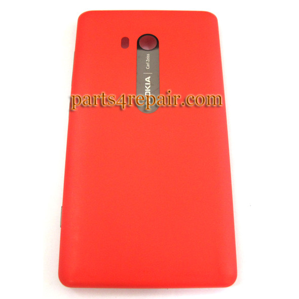 Back Cover without Wireless Charging Coil for Nokia Lumia 810 (T-Mobile) -Red