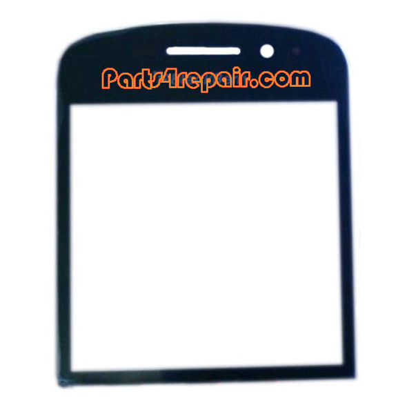 Front Glass for BlackBerry Q10 -Black from www.parts4repair.com