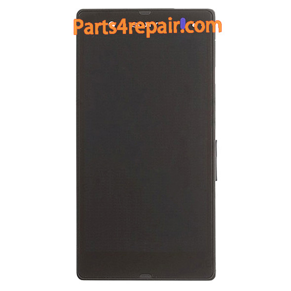 Complete Screen Assembly with Bezel for Sony Xperia Z L36H (Used) -Purple