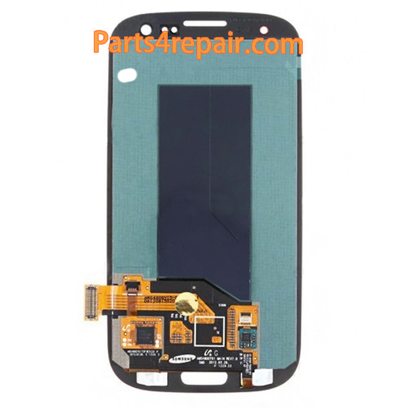 Complete Screen Assembly without Bezel for Samsung I9300 Galaxy S III -Red
